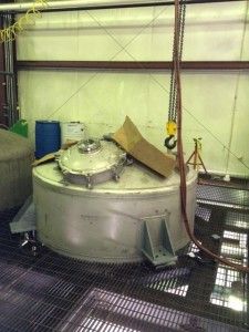 Top of 2,500 gal. Monomer Tank