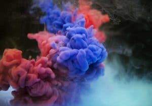 colored smoke clouds